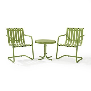 Gracie Oasis Green Metal Outdoor Conversation 3-piece Seating Set