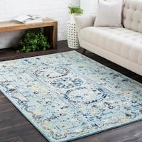 "Traditional Colonial Vintage Blue Area Rug - 9'3"" x 12'6"""