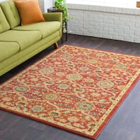 The Curated Nomad Angelo Red MultiColor Tibetan Area Rug - 9'3 x 12'6
