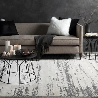 Teddy Distressed Modern Grey & Cream Rug (9'3 x 12'3)