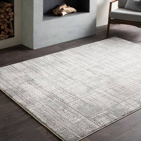 "Jaden Tonal Abstract Grey Area Rug - 8'10"" x 12'4"""