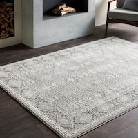 "Valerie Distressed Tibetan Grey Area Rug - 9'2"" x 12'3"""