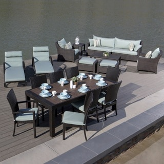 RST Brands Deco Estate Collection Bliss Blue Outdoor Group (Set of 19 Pieces)