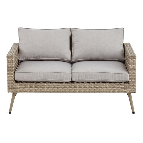 INK+IVY Avery Light Grey/ Grey Outdoor Loveseat