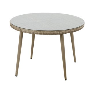 INK+IVY Avery Light Grey Outdoor Round Table
