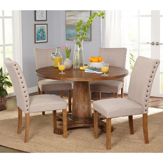 Simple Living 5-Piece Atwood Dining Set  sc 1 st  Overstock.com & Round Kitchen \u0026 Dining Room Sets For Less | Overstock.com