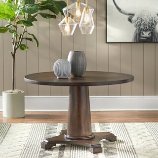 Simple Living Atwood Pedestal Table - Brown - N/A
