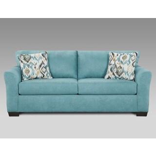 Mazemic Capri Blue Microfiber 2-seater Sofa