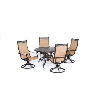 Cambridge Legacy 5-Piece Dining Set with Four Swivel Rockers
