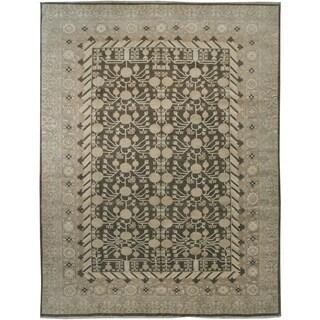 Wool and Silk Tabriz Rug (8'9'' x 11'5'') - 8'9'' x 11'5''