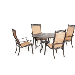 Cambridge Legacy Tan Aluminum 5-piece Outdoor Dining Set