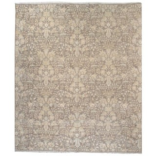 Wool and SIlk Tabriz Rug - 8' x 9'6''