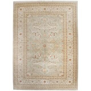 Wool and Silk Tabriz Rug - 8'9'' x 12'5''