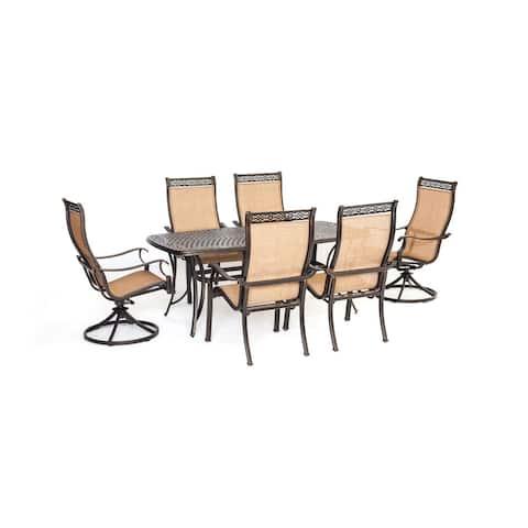 Cambridge Legacy 7-Piece Tan/ Brown Aluminium Outdoor Dining Set