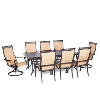 Cambridge Legacy 9-Piece Outdoor Dining Set with Two Swivel Rockers