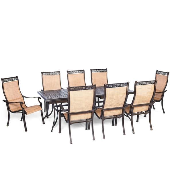 Cambridge Legacy Aluminum 9 Piece Outdoor Dining Set Overstock 15963765