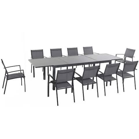 Cambridge Nova Aluminum 11-piece Outdoor Dining Set