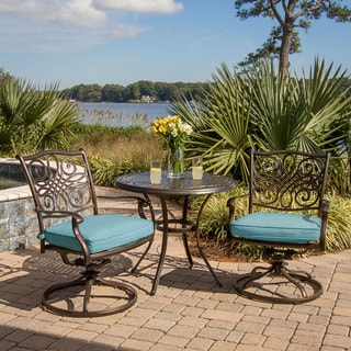 Cambridge Seasons 3-Piece Bistro Set with Two Swivel Rockers and a 32 in. Round Table
