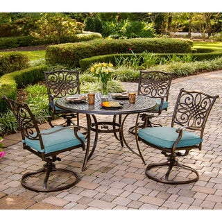 Cambridge Seasons 5-Piece Dining Set with Four Swivel Rockers