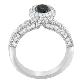 14KT White Gold 1 1/2 ct. TDW Round Cut Diamond Ring (H-I, I1-I2)