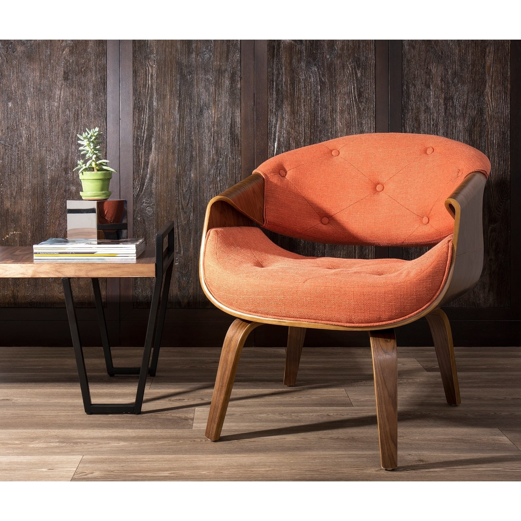 Curvo Mid Century Modern Living Room Accent Chair