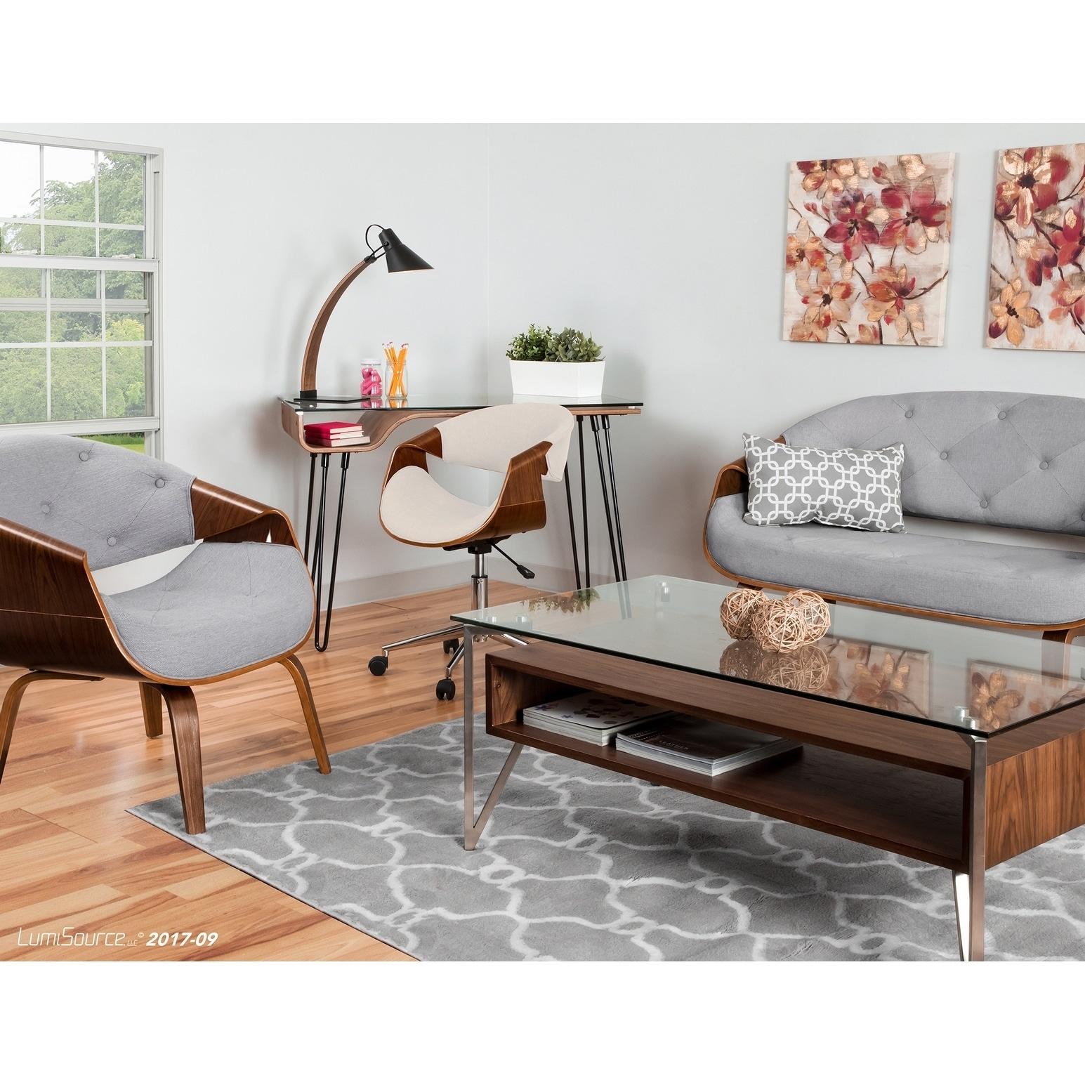 Curvo Mid Century Modern Living Room Accent Chair