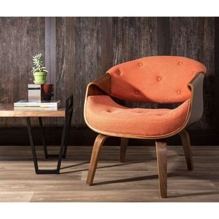 Curvo Mid-Century Modern Living Room Accent Chair in Walnut