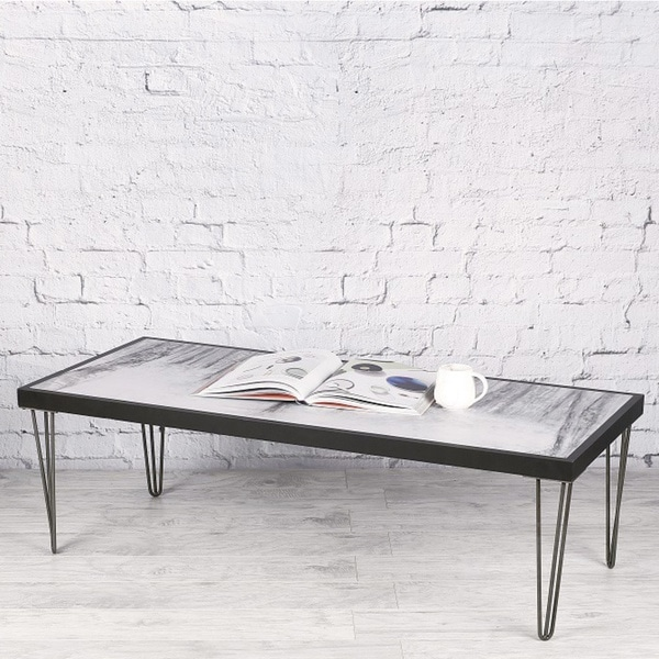 Hobbitholeco Birch Art Black And Grey Wood Coffee Table
