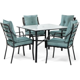 Hanover Lavallette 5-Piece Dining Set in Ocean Blue