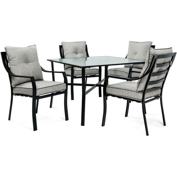 Hanover Lavallette 5-Piece Dining Set in Grey