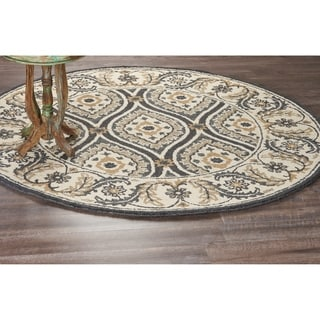 L and R Home Dazzle Grey Indoor Area Rug (6ft. Round) - 6' x 6'