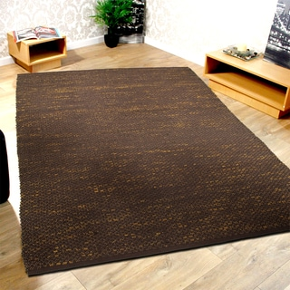 L and R Home Distressed Natural Espresso Indoor Area Rug (8' x 10')