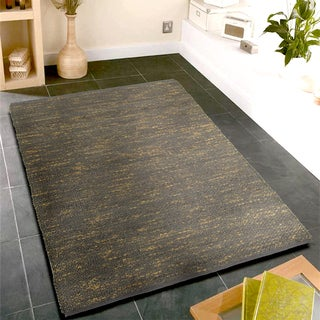 L R Resources Inc Distressed Natural/ Pewter Jute and Cotton Indoor Area Rug - 9' x 12'