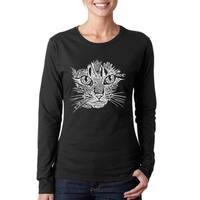 Women's Cat Face Long Sleeve T-Shirt
