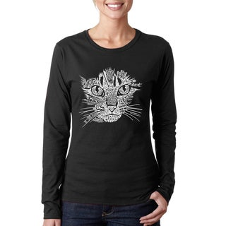 Link to Women's Cat Face Long Sleeve T-Shirt Similar Items in Tops