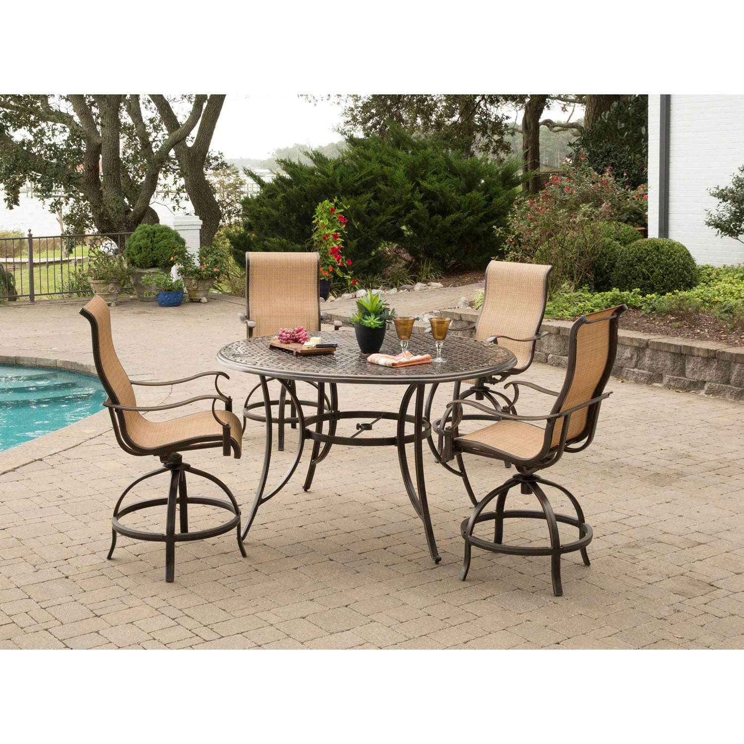 Manor 5 Piece High Dining Set With