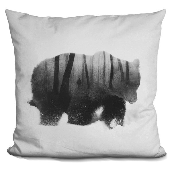WATCHED BY GRIZZLY BEAR THROW PILLOW