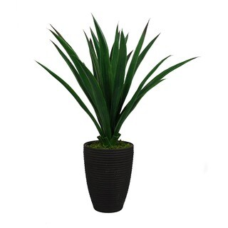 Jeco Polyester 23-inch Potted Aloe Topiary