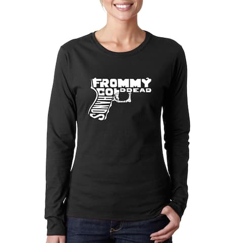 Women's Out of My cold Dead Hands Gun Long Sleeve T-Shirt