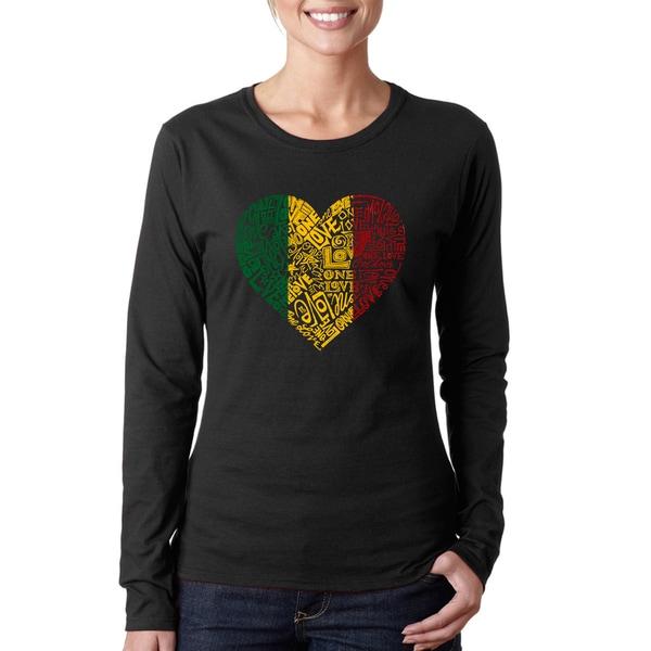 Women's One Love Heart Long Sleeve T-Shirt. Opens flyout.