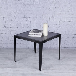 Hobbitholeco Stone Dust Wood Metal 22.25 x 21 End Table