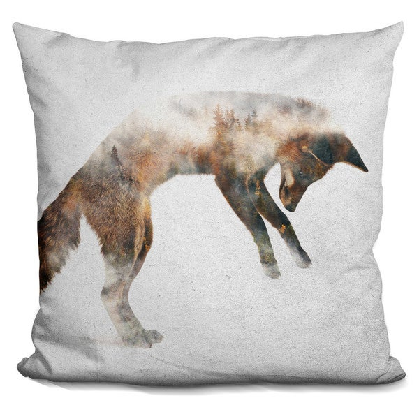 LION IN FOG THROW PILLOW