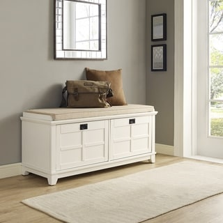 Link to Adler White Entryway Bench Similar Items in Living Room Furniture