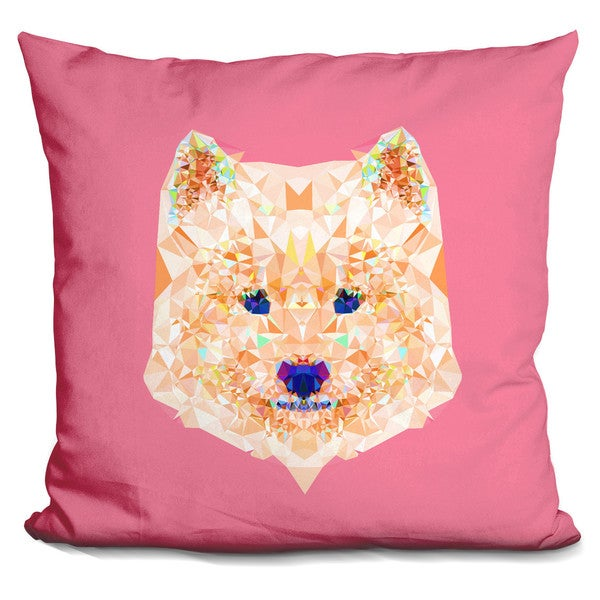 GEOMETRIC TIGER THROW PILLOW
