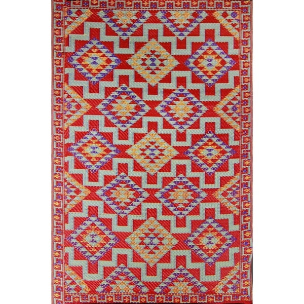 Shop Red Kilim Indoor Outdoor Reversible Southwestern Area