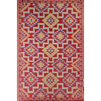 Red Kilim Indoor/Outdoor Reversible Area Rug