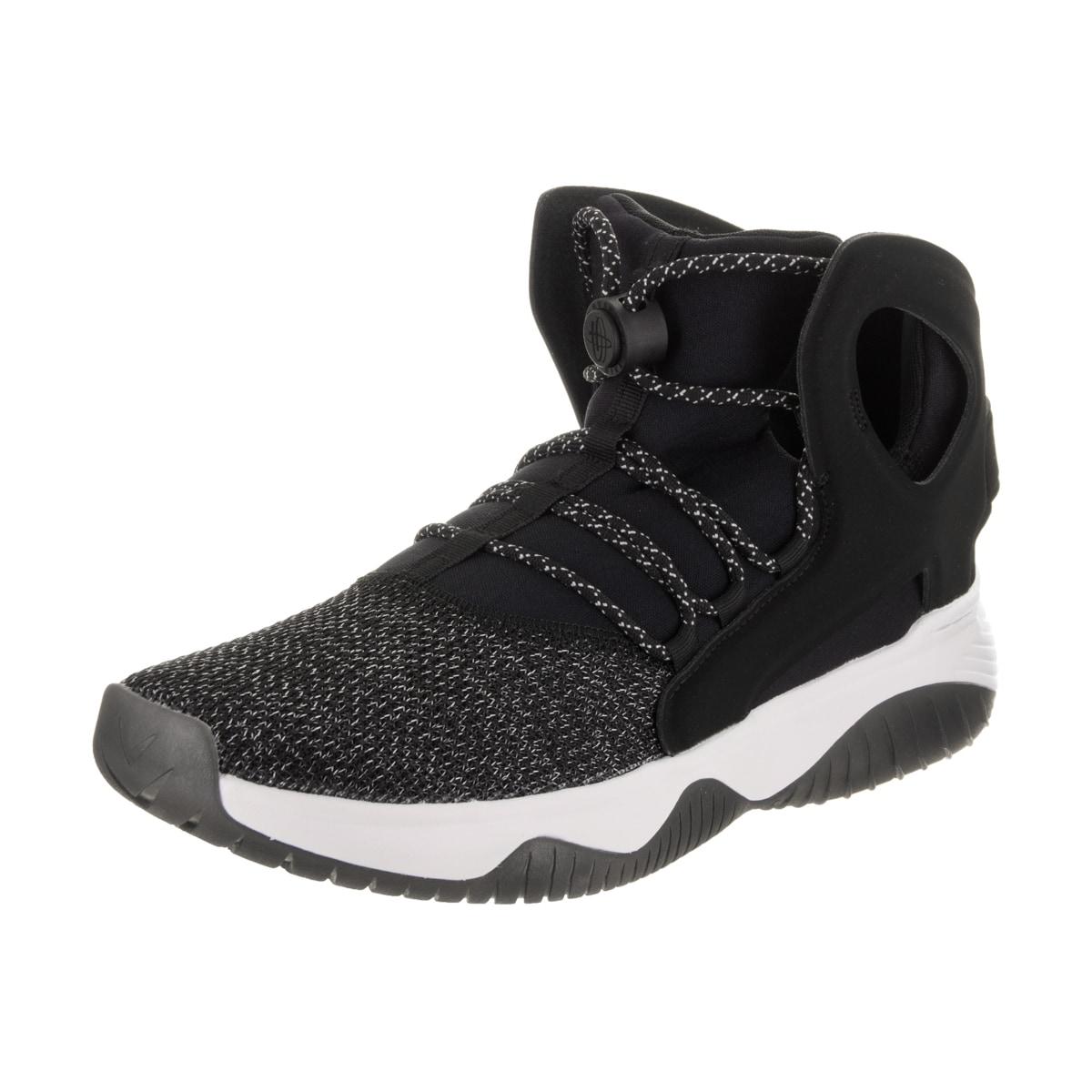 4914df97f447 Details about Nike Men s Air Flight Huarache Ultra Black Nubuck Basketball  Shoe
