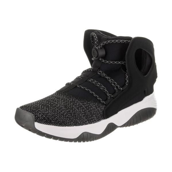 Nike Men's Air Flight Huarache Ultra Black Nubuck Basketball Shoe