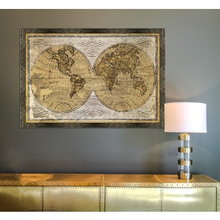 Elizabeth medley world map framed print free shipping today framed art world map gumiabroncs Image collections