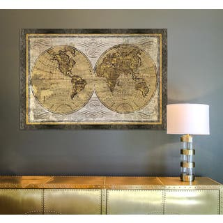 Map art gallery shop our best home goods deals online at overstock framed art world map gumiabroncs Image collections